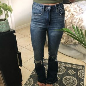 American Eagle Outfitters Jeans - AEO highest Waist Flare Jean 'Easy does it' size 0